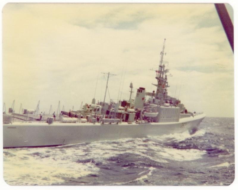 HMCS Saskatchewan at flank speed, Pacific Ocean, 1975.