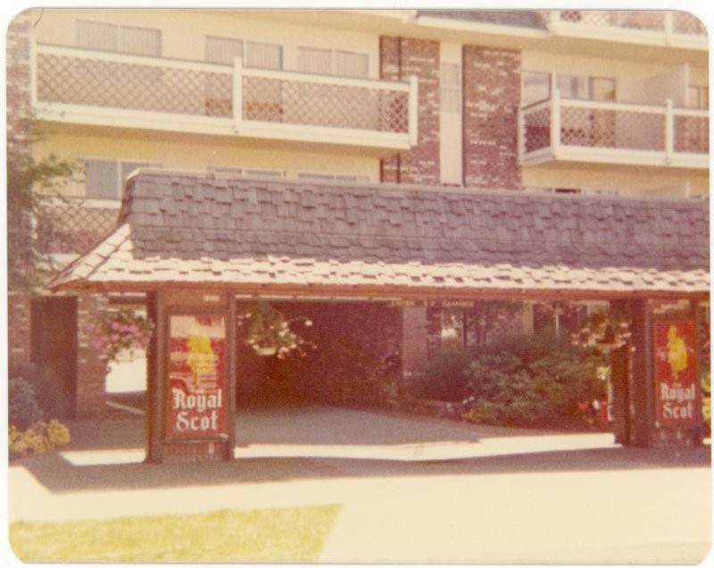 Royal Scot Motel, Victoria BC, 1975.