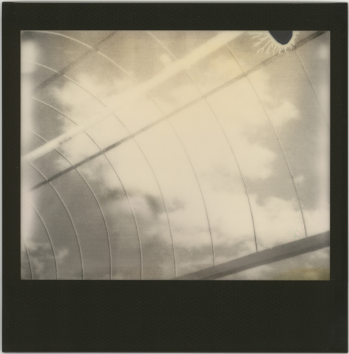 Vintage Polaroid Spectra, Impossible Project Silver Shade film